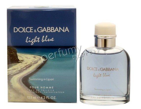 dolce & gabbana light blue pour homme swimming in lipari