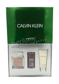 Calvin Klein Euphoria Men komplet (100 ml EDT & 75 ml DEO STICK & 100 ml ASB)