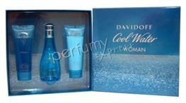 Davidoff Cool Water Woman komplet (100 ML EDT & 75ML BL & 75ML SG)