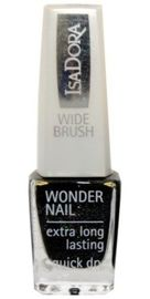 IsaDora Wonder Nail supertrwały lakier do paznokci 728 Black Galaxy 6 ml