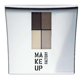 Make Up Factory Eye Colors Zestaw Cieni Quattro Dim Greige nr 04, 48g