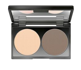 Make up Factory Duo Contouring Powder paleta do konturowania twarzy w pudrze 15 Raw Umber 2 x 3 g