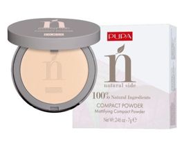 Pupa NATURAL SIDE COMPACT POWDER Puder matujący nr 002, 7g