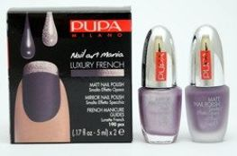 Pupa Nail Art Mania Luxury French zestaw do manicure 002 Matt Purple & Mirror Mauve 2 x 5 ml