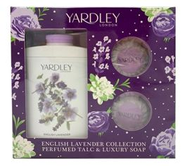 Yardley London English Lavender komplet (200 g TALC & 2 x 50 g SOAP)