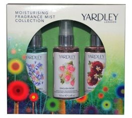 Yardley London Fragrance Mist Collection zestaw mgiełek do ciała 3x100 ml