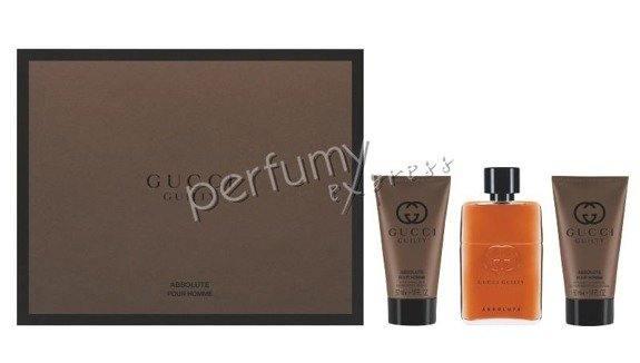 Gucci Guilty Absolute pour Homme komplet (50 ml EDP & 50 ml ASB & 50 ml SG)
